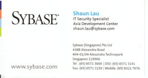 Sybase namecard
